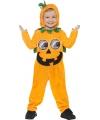 Halloween pompoen onesie voor peuters