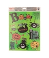 Halloween raamdecoratie stickervel groen