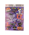 Halloween raamdecoratie stickervel paars