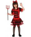 Halloween rode duivel jurkje voor meisjes