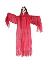 Halloween rood hangend dames spook 91 x 68 cm
