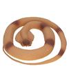 Halloween rubberen slang bruin 117 cm