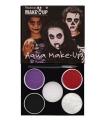 Halloween schminkset horror rood zwart paars wit