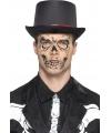 Halloween skelet gezicht tattoo