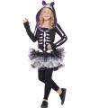 Halloween skelet kat kostuum voor meisjes