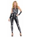 Halloween skelet kostuum voor dames