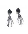 Halloween skelethanden oorbellen met clip on