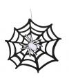 Halloween spinnenweb hangdecoratie 45 cm