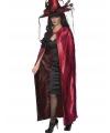Halloween tweezijdige luxe cape rood en zwart
