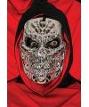 Halloween zilver metallic skelet masker