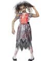 Halloween zombie bruidsjurk voor meiden