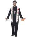 Halloween zombie priester kostuum voor heren