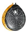 Halloween zwarte ballonnen met spinnenweb 8 stuks