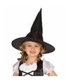Halloween zwarte heksenhoed beryl voor meisjes