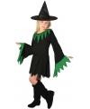 Halloween zwarte heksenjurk voor meisjes
