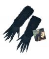 Halloween zwarte kat handschoenen met nagels