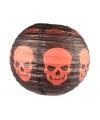 Halloween zwarte lampion met schedels 30 cm