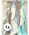 Hamam handdoek xl blauw 200 x 240 cm
