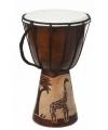 Handgemaakte drum giraffe 25 cm