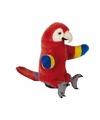 Handpop rode ara papegaai pluche 25 cm