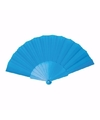 Handwaaier turquoise 23 cm