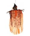 Hangdecoratie geest skelet oranje