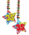 Hangdecoratie sterren 35 jaar