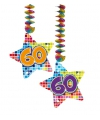 Hangdecoratie sterren 60 jaar