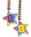 Hangdecoratie sterren 8 jaar