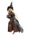 Hangende heksen pop 40 cm rood