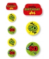 Hangslinger 50 jaar geel groen