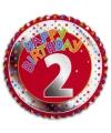 Happy birthday 2 jaar folie ballon