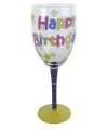 Happy birthday glas 23 cm