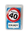 Happy birthday kaart met button 40 jaar