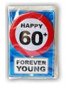 Happy birthday kaart met button 60 jaar