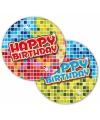 Happy birthday party bordjes 6 stuks