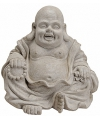 Happy boeddha beeld grijs 32 cm