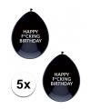 Happy fucking birthday ballonnen 5 stuks