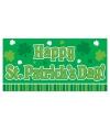 Happy st patricks day groen banner