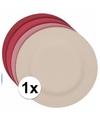 Hard bamboevezel bord beige 19 8 cm