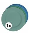 Hard bamboevezel bord lichtblauw 17 5 cm