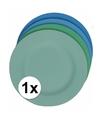 Hard bamboevezel bord lichtblauw 19 8 cm