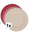 Hard bamboevezel bord rood 19 8 cm