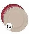 Hard bamboevezel bord roze 17 5 cm