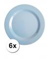 Hard plastic camping borden blauw 6 stuks 25 cm