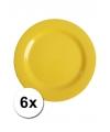 Hard plastic camping borden geel 6 stuks 20 cm