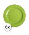 Hard plastic camping borden groen 6 stuks 20 cm