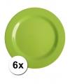 Hard plastic camping borden groen 6 stuks 25 cm