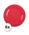 Hard plastic camping borden rood 6 stuks 20 cm