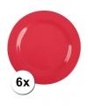 Hard plastic camping borden rood 6 stuks 25 cm